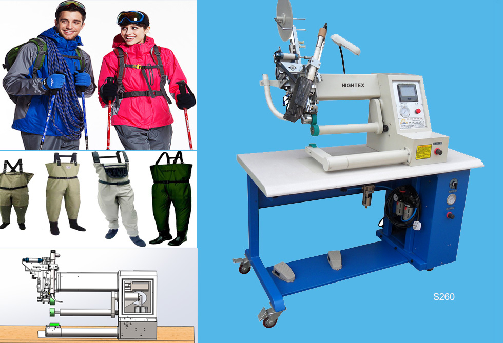 S260 Hot air tape welding machine for outdoor clothing and gear
