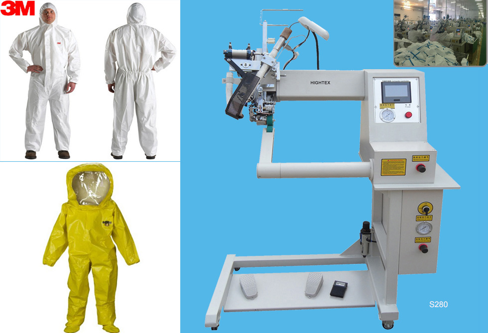 S280 hot air welding machine for chemical protective clothing