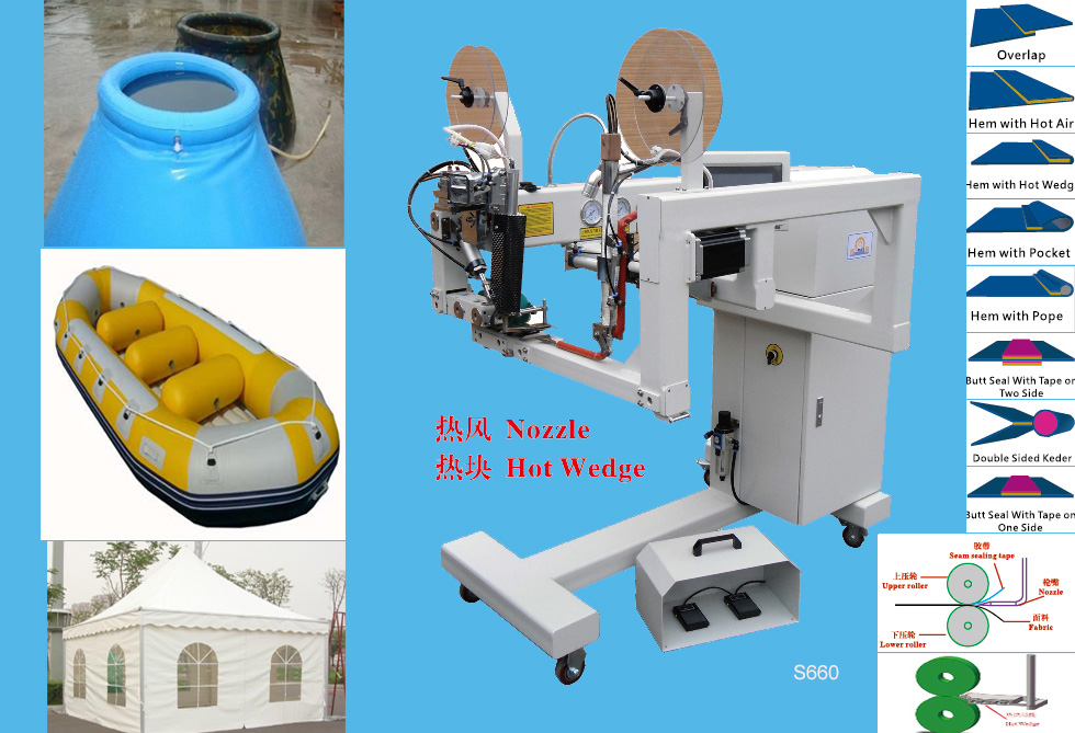 S660 Hot air or hot wedge welding machine for PVC